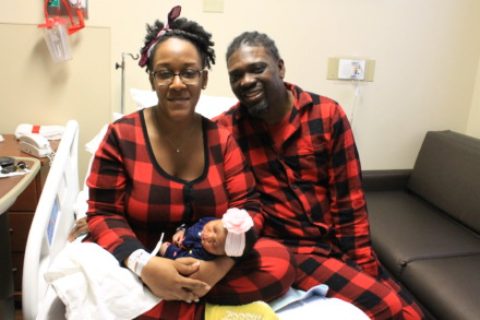 <strong>Alaina Janelle was born at 2:47 a.m. New Year's Day to parents Angela Scott and Freddie Price. She weighed 6 pounds and 11 ounces.</strong> (Michelle Corbet/Daily Memphian)
