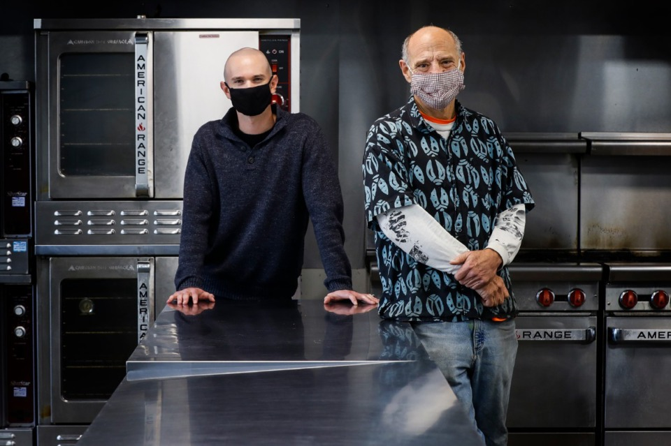<strong>OtherFoods Kitchen co-owners Evan Katz (left) and Steve Cantor offer a renovated commercial kitchen space for small-business owners.</strong> (Mark Weber/Daily Memphian)