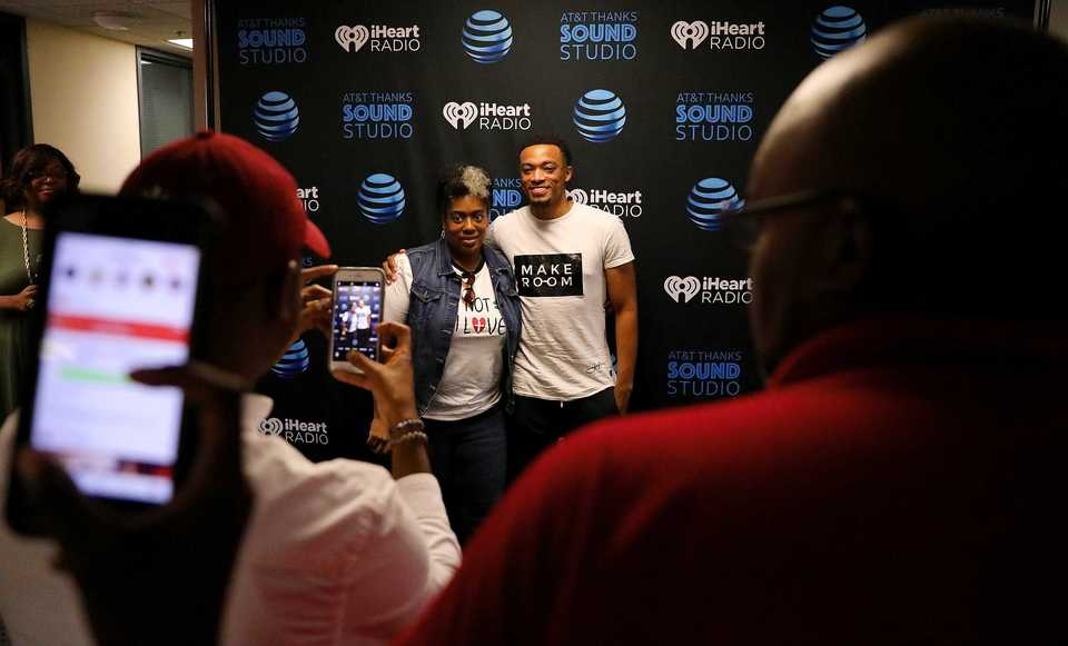 <strong>AT&T kicks off its Sound Studio series with a meet and greet with gospel singer Jonathan McReynolds. Memphis is one of 10 cities where AT&T is hosting the customer appreciation events. </strong>(Patrick Lantrip/Daily Memphian)
