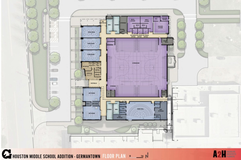 <strong>The addition will add rooms to help alleviate crowding at the school. Board members saw renderings of the $10 million expansion Tuesday.</strong>&nbsp;(Submitted)