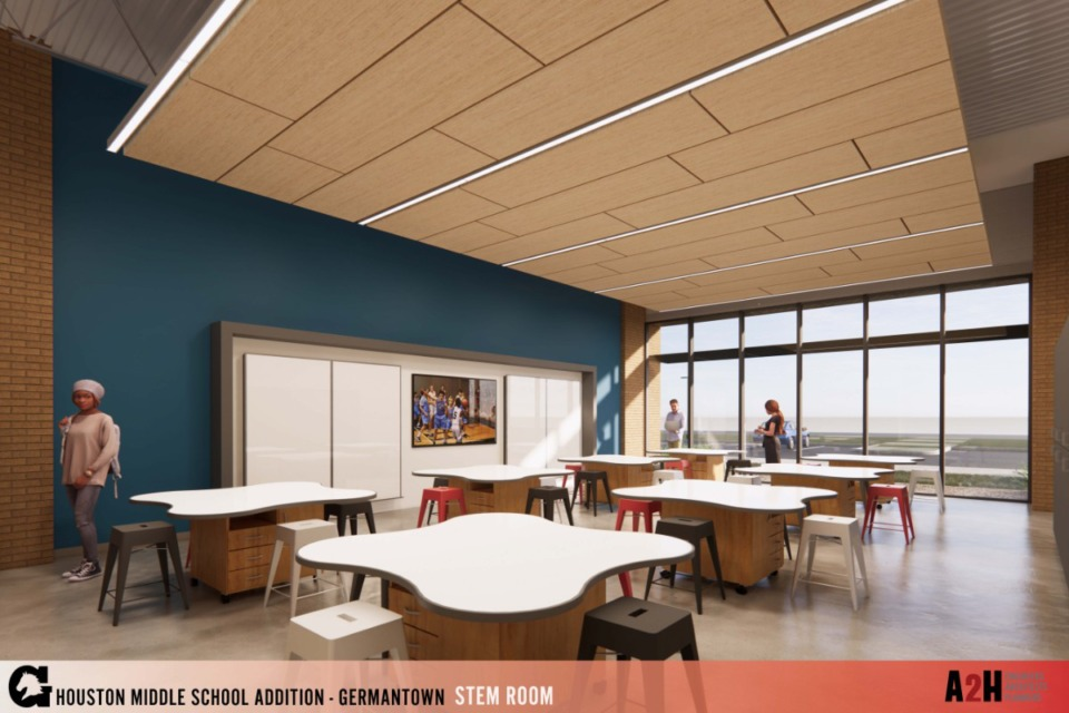 <strong>The new addition will include three STEM labs. The building will help alleviate crowding that exists at Houston Middle School.</strong>&nbsp;(Submitted)