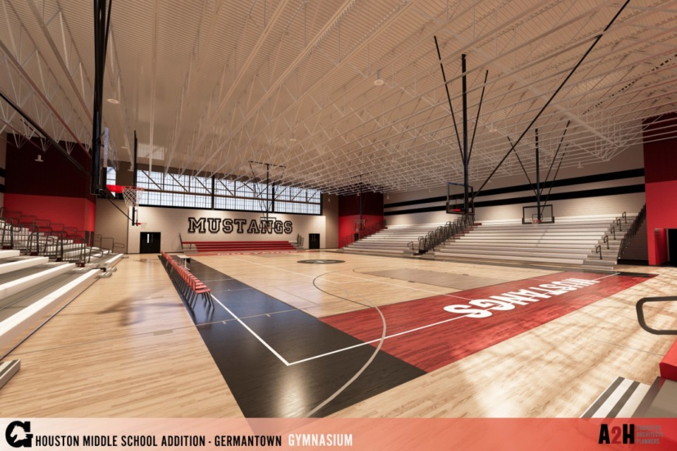 <strong>The new gymnasium is about twice the size of the school&rsquo;s current gymnasium. The size will allow flexibility in scheduling use, according to Superintendent Jason Manuel.</strong>&nbsp;(Submitted)