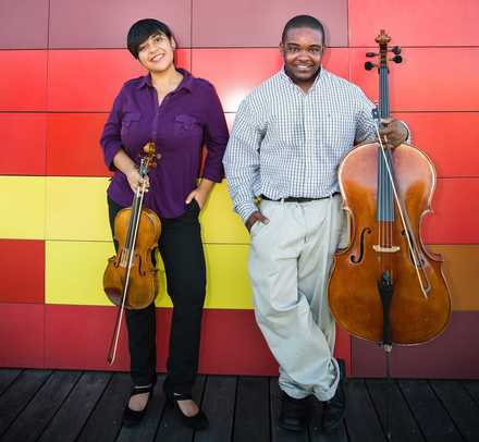 <strong>Rosa Ortega and Carrington Truehart are the IRIS Artist Fellows for 2018-19. IRIS Orchestra created the program in 2016 to help increase the representation of African-Americans and Latinos in classical music.</strong> (IRIS Orchestra)