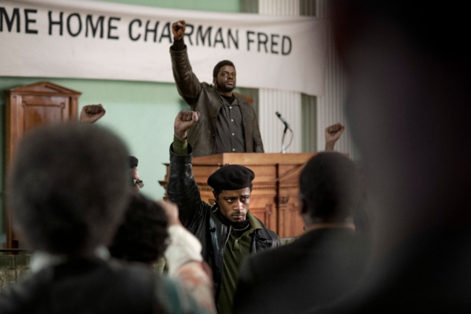 "<strong>LaKeith Stanfield, foreground, and Daniel Kaluuya in a scene from the upcoming film ""Judas and the Black Messiah."" The Ryan Coogler-produced Fred Hampton film will have its premiere at the Sundance Film Festival before heading to HBO Max and theaters, programmers announced Tuesday. Daniel Kaluuya plays the Black Panther Party chairman and his &ldquo;Get Out&rdquo; co-star Lakeith Stanfield plays FBI Informant William O&rsquo;Neill who agrees to infiltrate the group in the late 1960s.</strong> (Glen Wilson/Warner Bros. Entertainment via AP)"