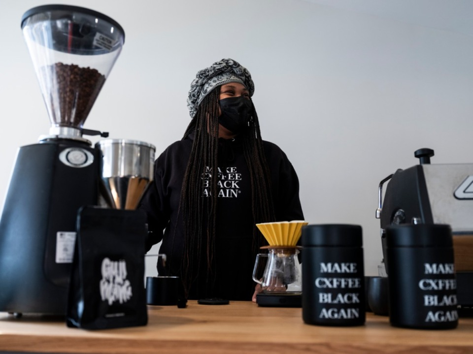 <strong>Not a Coffee Shop, where J.C. Cofield brews black coffee for customers, is open Tuesday-Thursday, 6:45-11:15 a.m.</strong> (Brad Vest/Special to Daily Memphian)