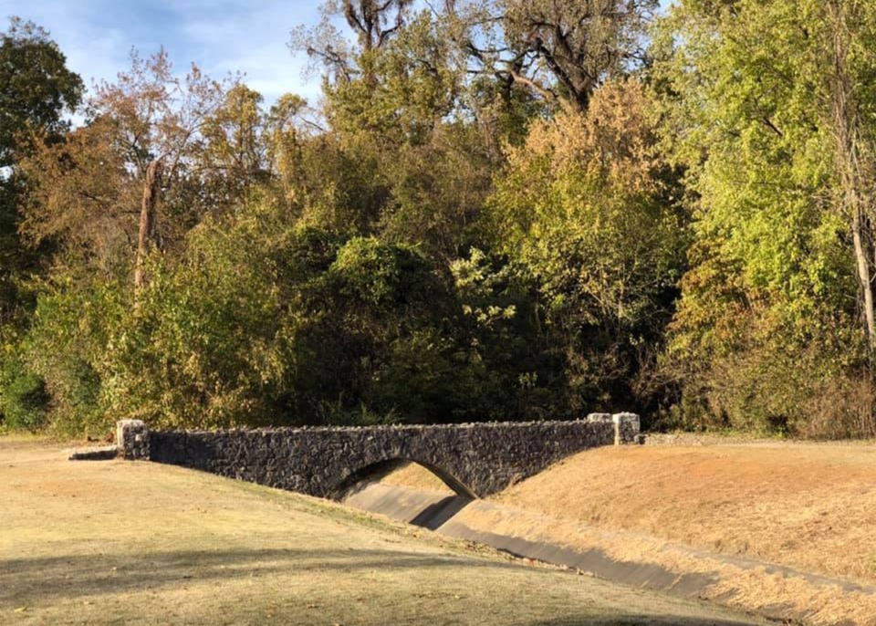 <strong>Lick Creek, now the ditch across number 7 at the Overton Park Golf Course, used to flood Midtown neighborhoods.</strong> (Dan Conaway/Special to Daily Memphian)