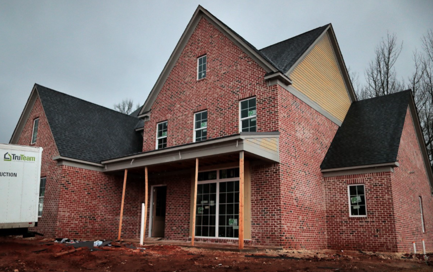 <strong>The 2020 St. Jude Dream Home, in the Kensington Manor subdivision in Lakeland,&nbsp;while under construction.</strong> (Jim Weber/Daily Memphian file)