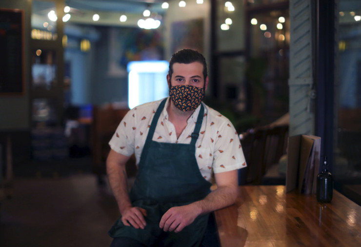 <strong>Miles Tamboli poses for a portrait inside Tamboli's Pasta &amp; Pizza in Midtown Jan. 13, 2021.</strong> (Patrick Lantrip/Daily Memphian)