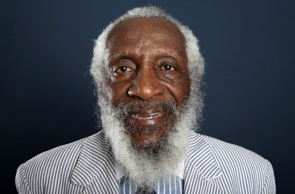 <strong>Comedian and activist Dick Gregory (ina 2012 photo) will be represented in the Hattiloo Theatre presentation.</strong> (Matt Sayles/AP file)