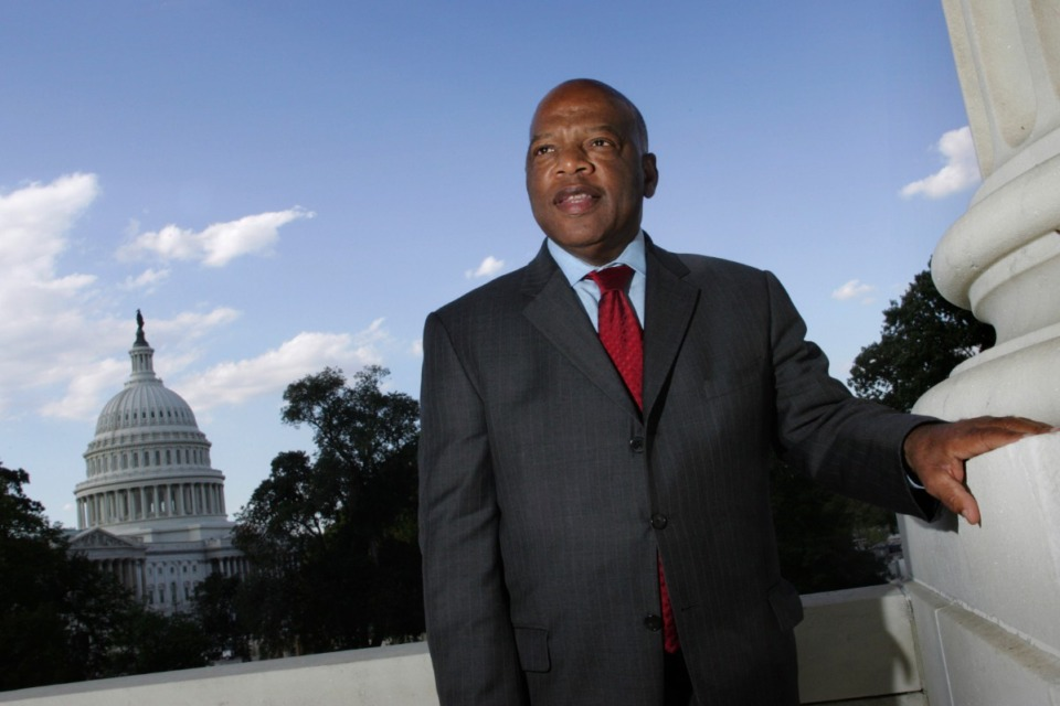 <strong>John Lewis (on Capitol Hill in 2007) is among the historic figures who&rsquo;ll be represented in the Hattiloo Theatre program.</strong> (Lawrence Jackson/AP file)