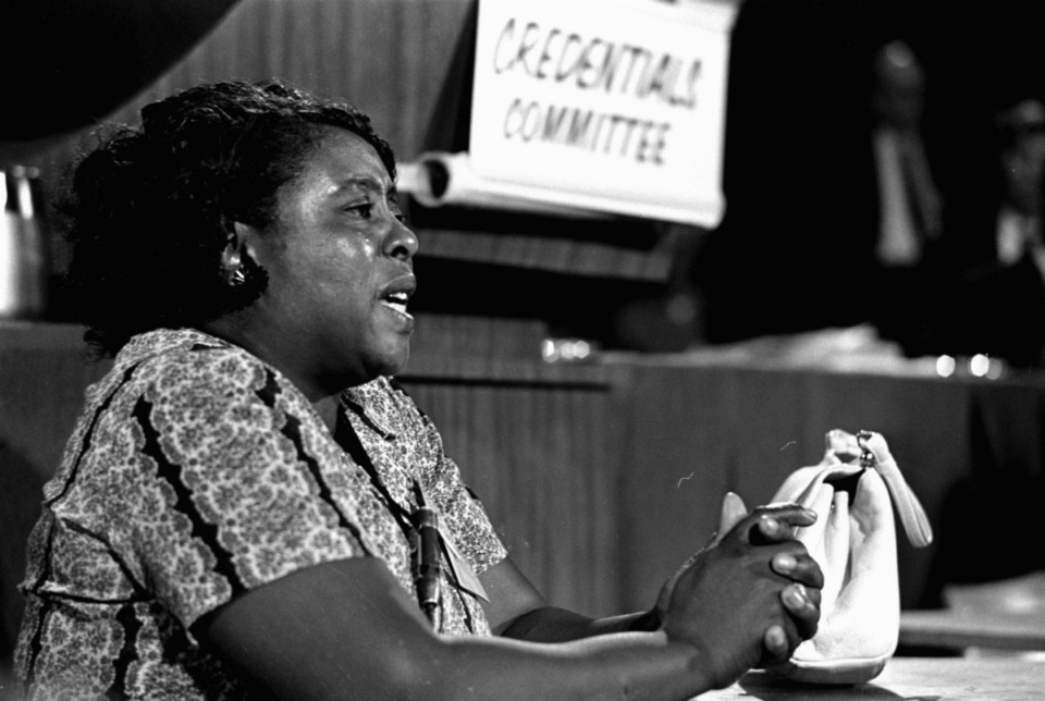 <strong>Fannie Lou Hamer (in a 1964 photo) is one of the historic figures who will be depicted in &ldquo;Say It Loud.&rdquo;</strong> (AP/file)