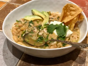 <strong>Green chicken chili is a winter staple. Crushed tortilla chips stirred in just before serving is a good tip.</strong> (Jennifer Biggs: Daily Memphian)