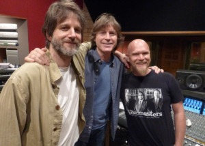 <strong>Jody Stephens (center), with Those Pretty Wrongs bandmate Luther Russell (left) and engineer Mike Wilson, will host Live From Ardent Sunday, Jan. 24.</strong> (Submitted by Jody Stephens)