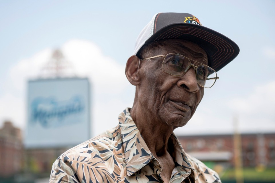 <strong>Former LeMoyne-Owen College basketball coach Jerry Johnson was among those inducted into the inaugural class of honorees during the formal announcement of the Memphis Sports Hall of Fame in a ceremony at AutoZone Park on May 22, 2019.</strong> (Brandon Dill/Special To The Daily Memphian file)