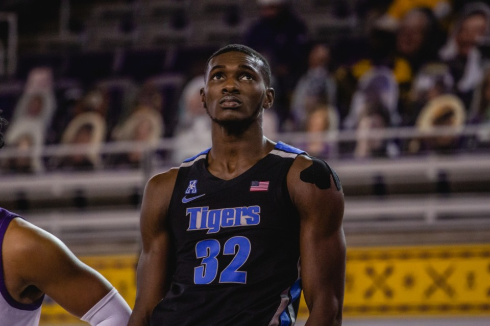 <strong>Moussa Cisse scored 15 points at the University of Memphis Tigers game against East Carolina, Sunday, Jan. 24, 2021 at Greenville, N.C.</strong> (Houston McCullough/ECU Athletics)