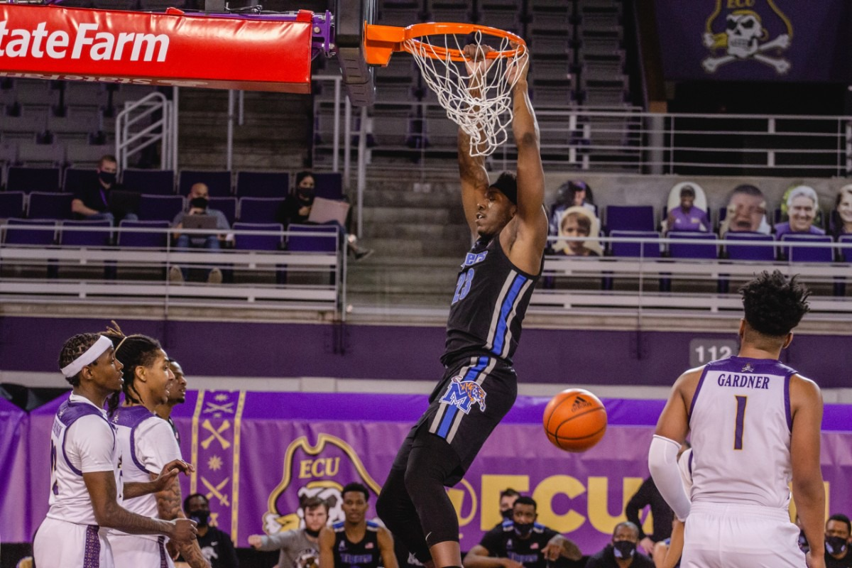 <strong>Malcolm Dandridge at the University of Memphis Tigers game against East Carolina, Sunday, Jan. 24, 2021 at Greenville, N.C.</strong> (Houston McCullough/ECU Athletics)