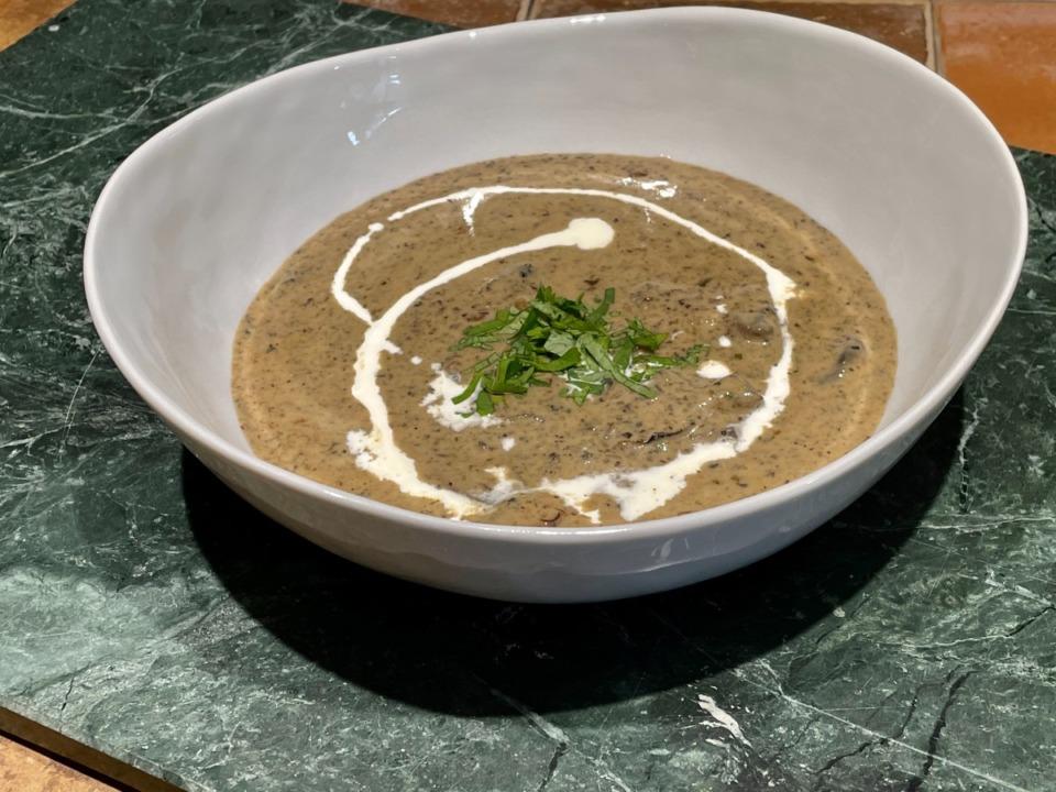 <strong>Cream of mushroom soup.</strong> (Jennifer Biggs/Daily Memphian)