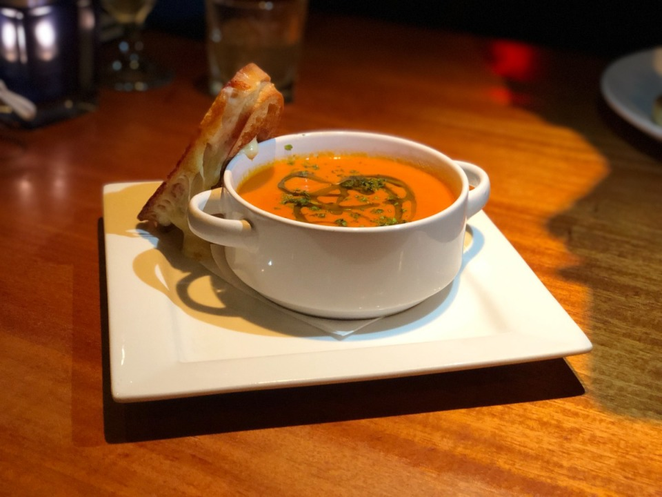 <strong>The classic combo of tomato soup and grilled cheese is $9 at River Oaks Restaurant.</strong> (Jennifer Biggs/Daily Memphian)