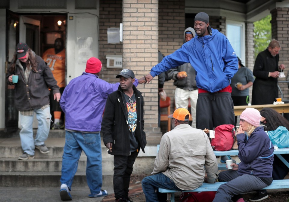 <strong>Constance Abbey, which serves the homeless, has seen an uptick in traffic since the pandemic begain.</strong> (Jim Weber/Daily Memphian file)