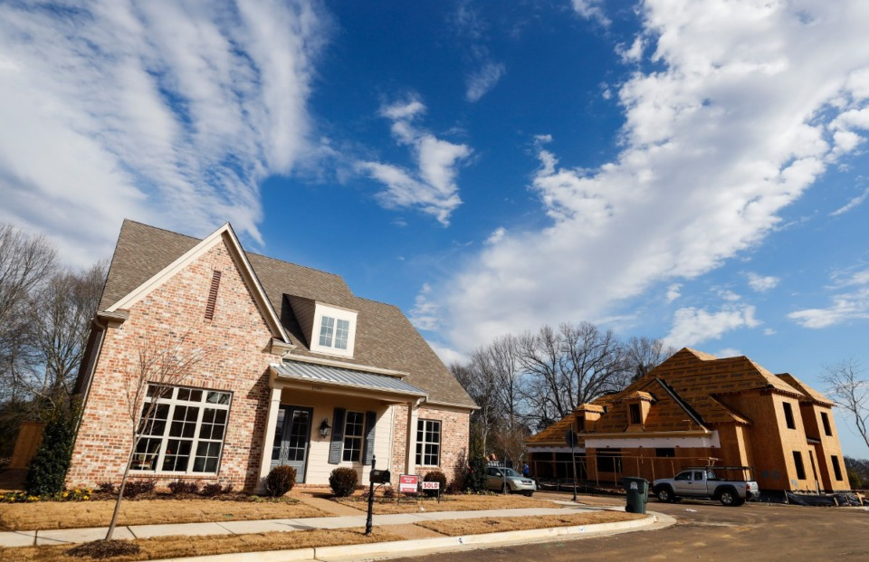 <strong>A completed home recently sold in the Porter Farms residential development on Tuesday, Jan. 26, 2021 in Collierville.</strong> (Mark Weber/The Daily Memphian)
