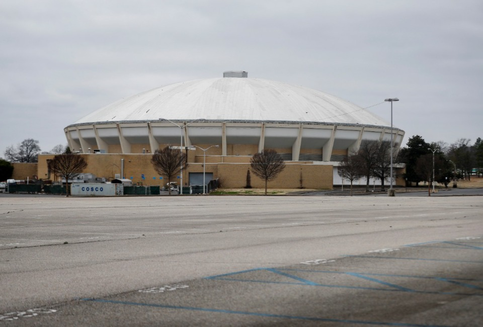 <strong>There are currently no plans to convert the Mid-South Coliseum, seen here on Feb. 1, to a mass vaccination site.</strong> (Mark Weber/The Daily Memphian)
