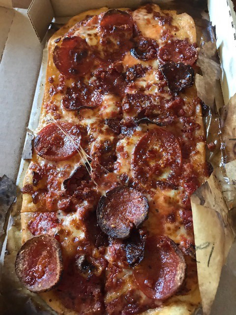 <strong>If you&rsquo;re counting, you&rsquo;ll find the Rony, Roni, Rone! pepperoni pizza has three kinds of pepperoni, one of them quite spicy.</strong> (Peggy Burch/Daily Memphian)&nbsp;&nbsp;