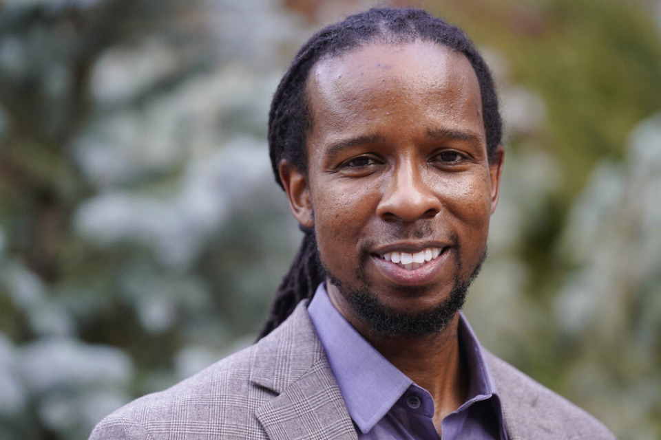 <strong>Ibram X. Kendi, director of Boston University's Center for Antiracist Research, stands for a portrait Wednesday, Oct. 21, 2020, in Boston. Kendi, the editor of the book&nbsp;&ldquo;Four Hundred Souls,&rdquo; will participate in a virtual Black History Month event with the National Civil Rights Museum on Feb. 5.&nbsp;</strong>(AP Photo/Steven Senne)