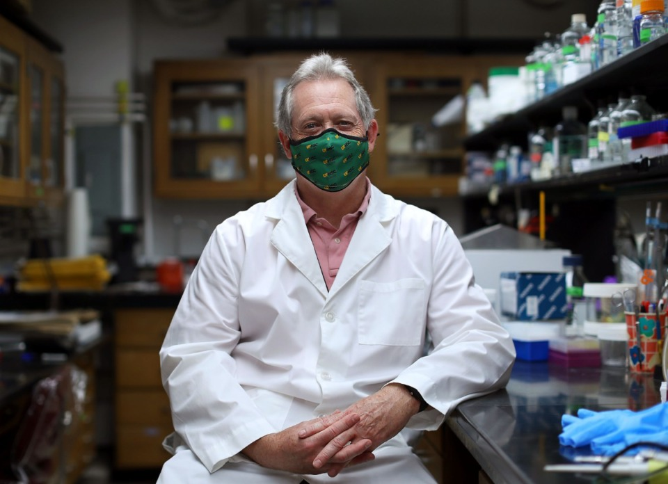 <strong>&ldquo;I feel like our lab is making a contribution,&rdquo; said Dr. Michael Whitt, in his UTHSC lab on Jan. 26, 2021.</strong> (Patrick Lantrip/Daily Memphian)