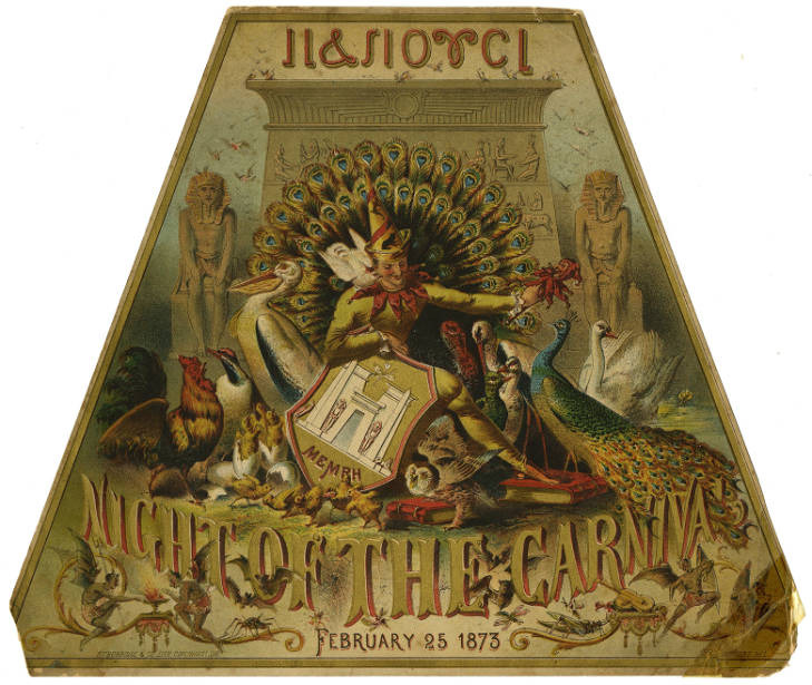 <strong>One of several invitations to Memphis Mardi Gras events in the 1870s in the Colton Greene Collection.</strong>&nbsp;(Memphis and Shelby County Room, Memphis Public Library &amp; Information Center)