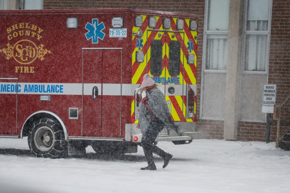 <strong>During a heavy snow storm Shelby County Schools teachers and personnel received surprise vaccination doses on Monday, Feb. 15, 2021 at the school&rsquo;s offices.</strong> (Mark Weber/The Daily Memphian)