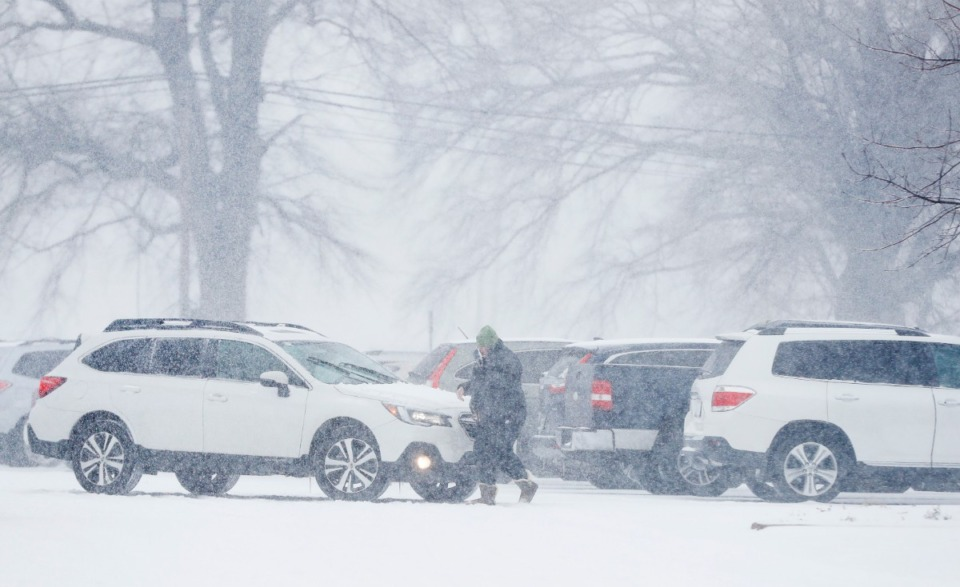 <strong>Shelby County Schools teachers and personnel received surprise vaccination doses on Monday, Feb. 15, 2021, during a heavy snowstorm at the school&rsquo;s offices.</strong> (Mark Weber/The Daily Memphian)
