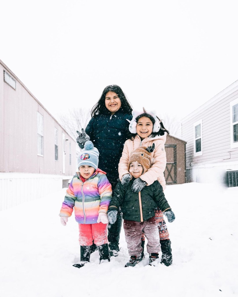 <strong>@fredy_2866&nbsp;photographing his family on their first ever snow day.&nbsp;</strong>(Submitted by&nbsp;@fredy_2866)&nbsp;