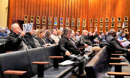 "<strong>Dozens of citizens voiced opposition at Memphis City Hall to a proposed new gravel mine near Rosemark.</strong> (Tom Bailey<span class=""s1"">/</span>Daily Memphian)"