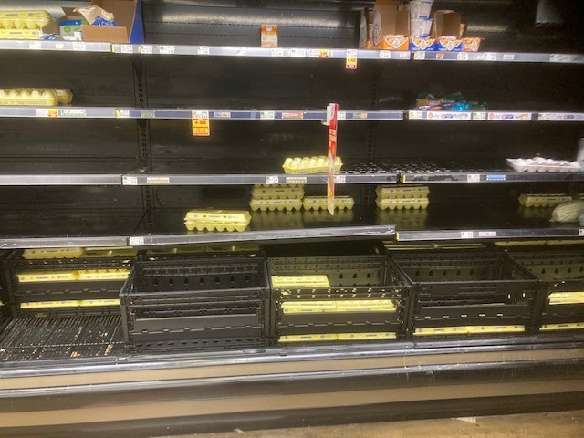 <strong>The Kroger at Trinity and Germantown Parkway had only a few cartons of eggs remaining Thursday, Feb. 18, 2021.</strong>&nbsp;(David Boyd/Daily Memphian)