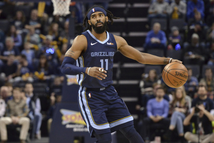 <span><strong>Memphis Grizzlies guard Mike Conley plays in the first half against the Cleveland Cavaliers on Dec. 26, 2018, in Memphis.</strong> (Brandon Dill/Associated Press)</span>