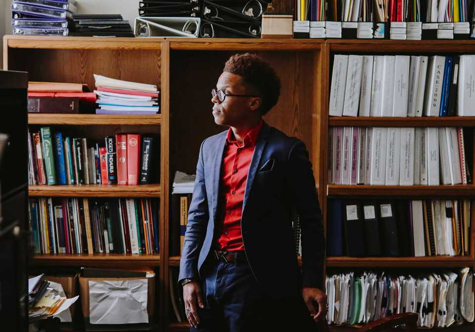 <strong>Dr. Terrell Strayhorn is interim vice president for academic and student affairs at LeMoyne-Owen College. He said he's determined to keep working to dismantle barriers that keep students, particularly minorities, from full participation in higher education.</strong> (Houston Cofield/Daily Memphian)