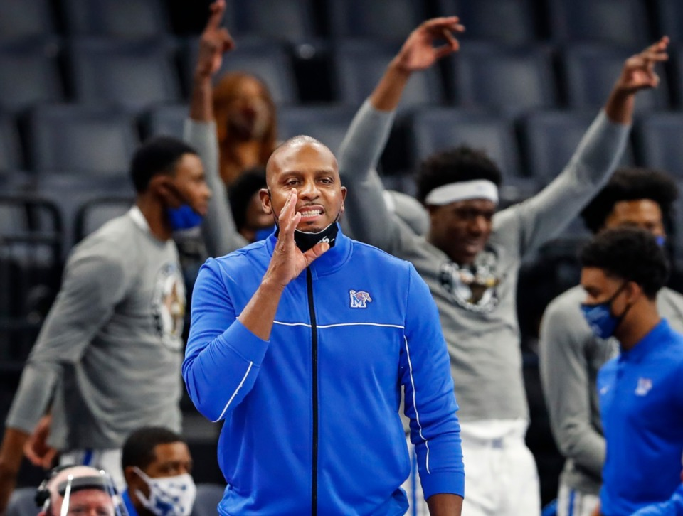 <strong>Tigers head coach Penny Hardaway on the bench during action against UCF on Monday, Feb. 1, 2021.</strong> (Mark Weber/The Daily Memphian)