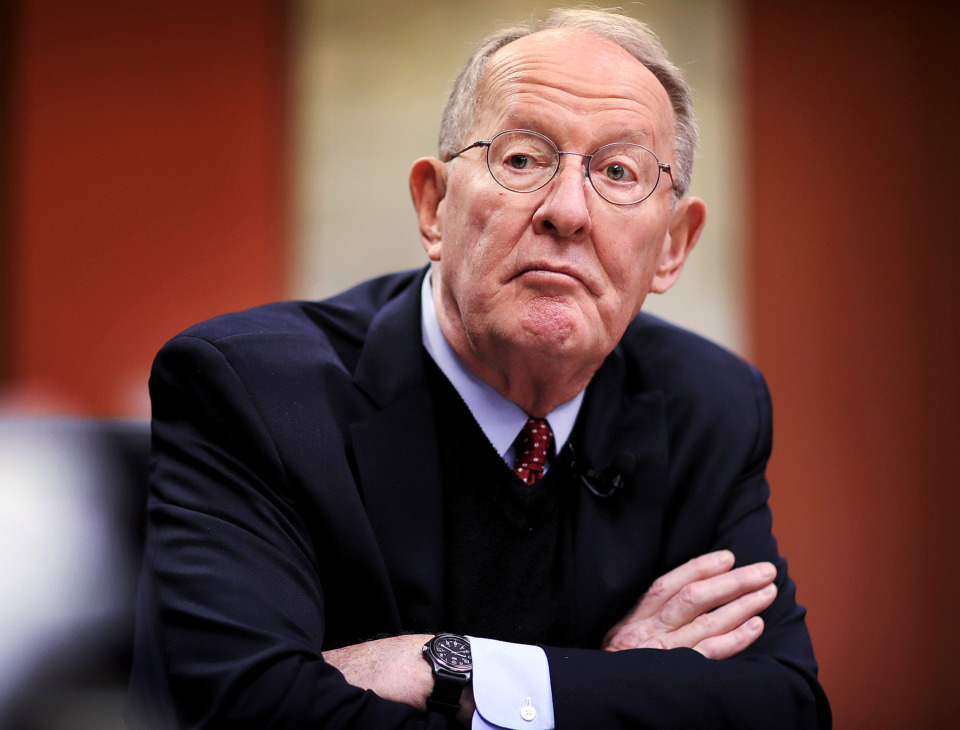 <strong>U.S. Sen. Lamar Alexander talks to The Daily Memphian editorial board about his proposed solution to the standoff between President Trump and House Democrats on the issue of a border wall.</strong> (Jim Weber/Daily Memphian)
