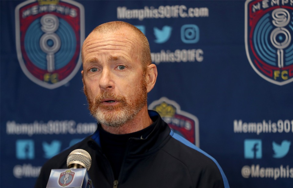 <strong>Former Memphis 901 FC head coach Tim Mulqueen (in a file photo) has joined the staff at Lausanne.</strong> (Patrick Lantrip/Daily Memphian)