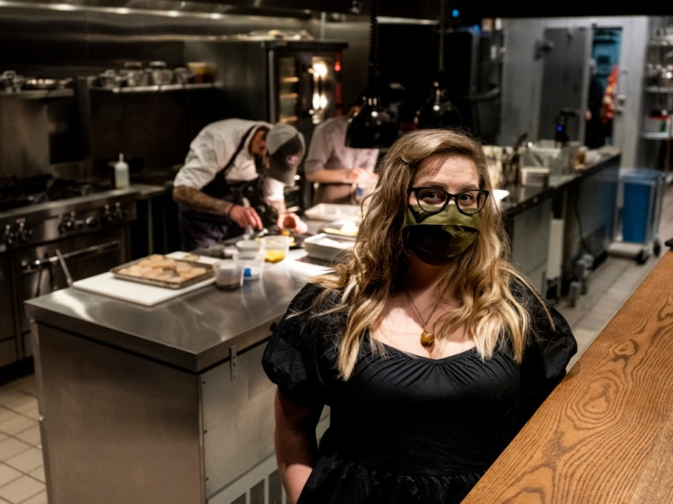 <strong>Amanda Krog, right, and her husband and chef Dave Krog are opening their restaurant, Dory, in East Memphis, on March 4.&nbsp;</strong>(Brad Vest/Special to Daily Memphian)