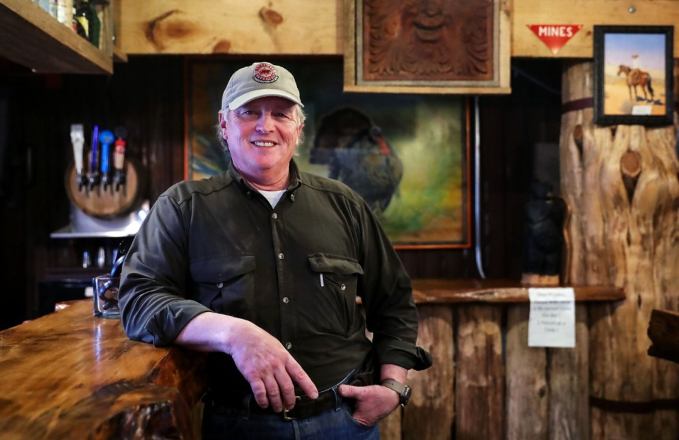 <strong>Marshall Steakhouse proprietor Randall Swaney poses for a portrait inside his Holly Springs, Mississippi restaurant Feb. 25, 2021.</strong> (Patrick Lantrip/Daily Memphian)