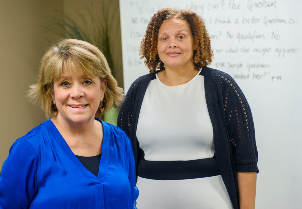 <strong>Catherine Collins (left) and Crystal Carter of Kindred Place and their staff will take over the operation of the Universal Parenting Places.</strong> (The Daily Memphian file)