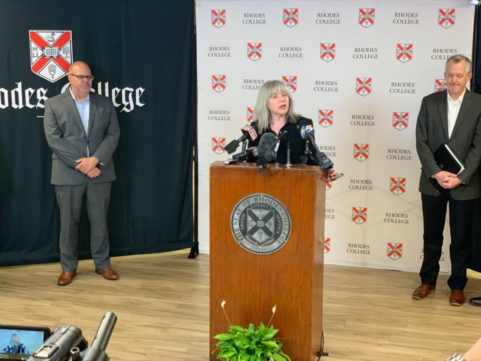 <strong>Marjorie Hass (in a file photo) has announced that she will leave her position as president of Rhodes College.</strong> (Photo courtesy Rhodes College)