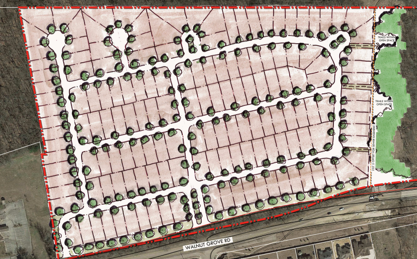<strong>Site plan for the Walnut Green Planned Development.</strong> (Credit: OPD)