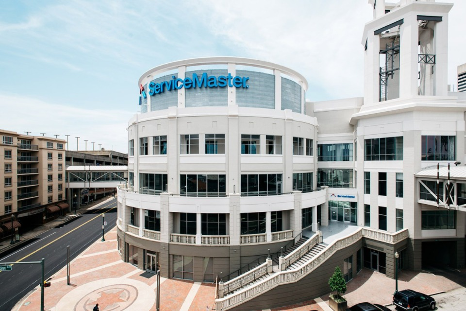<strong>ServiceMaster's corporate offices in Downtown Memphis are being relocated to Atlanta.</strong> <strong>Terminix has no plans to relocate its&nbsp; headquarters, which are located in the same building at 150 Peabody Place.</strong> (Daily Memphian file)