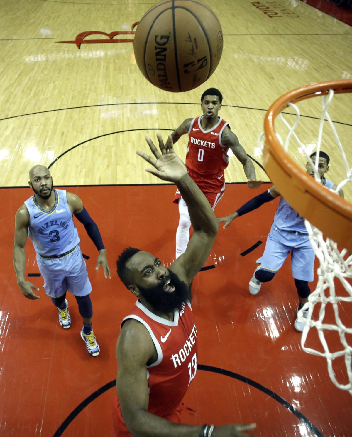 72f6b9d1b90e James Harden lights up Grizzlies for 57 points as Rockets win 112-94 - The  Daily Memphian