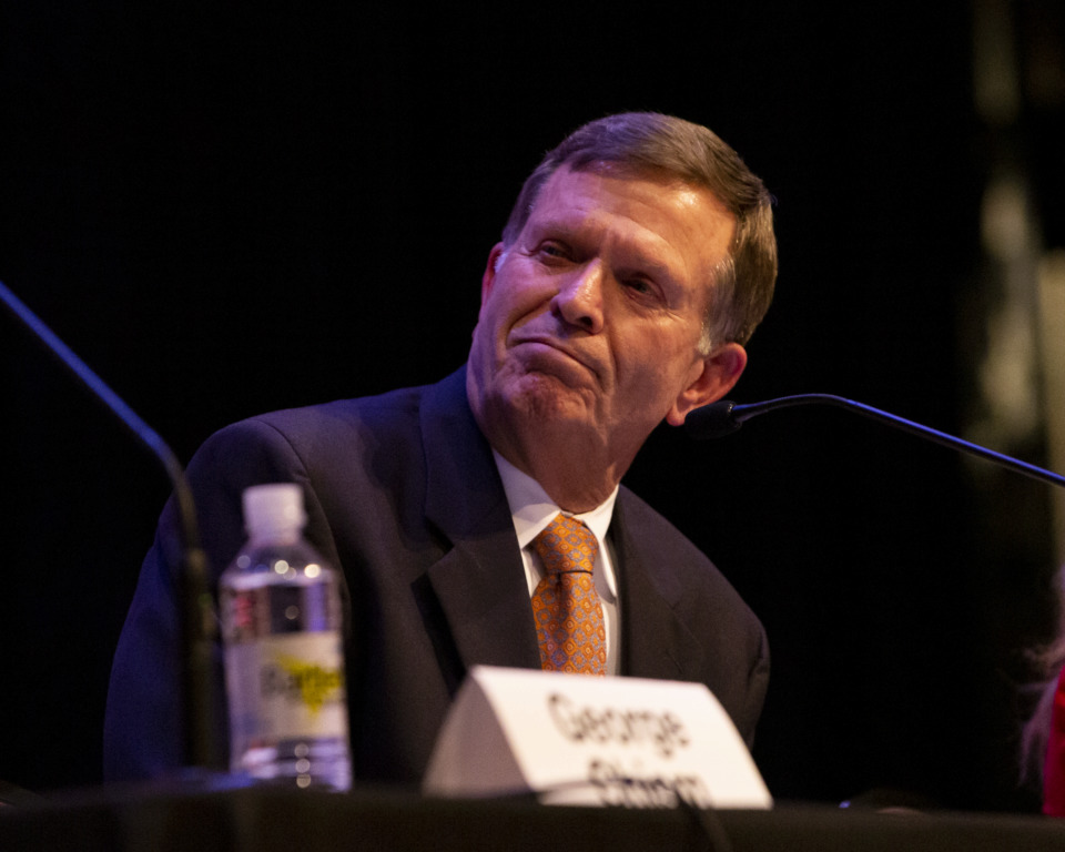 <strong>Covington businessman Paul Rose speaks during a Republican state Senate District 32 political forum at Bartlett Performing Arts and Conference Center Monday, Jan. 14, 2019. Rose's goals include continuing to work to make Tennessee the most business-friendly state in the nation.</strong>&nbsp;(Ziggy Mack/Special to The Daily Memphian)