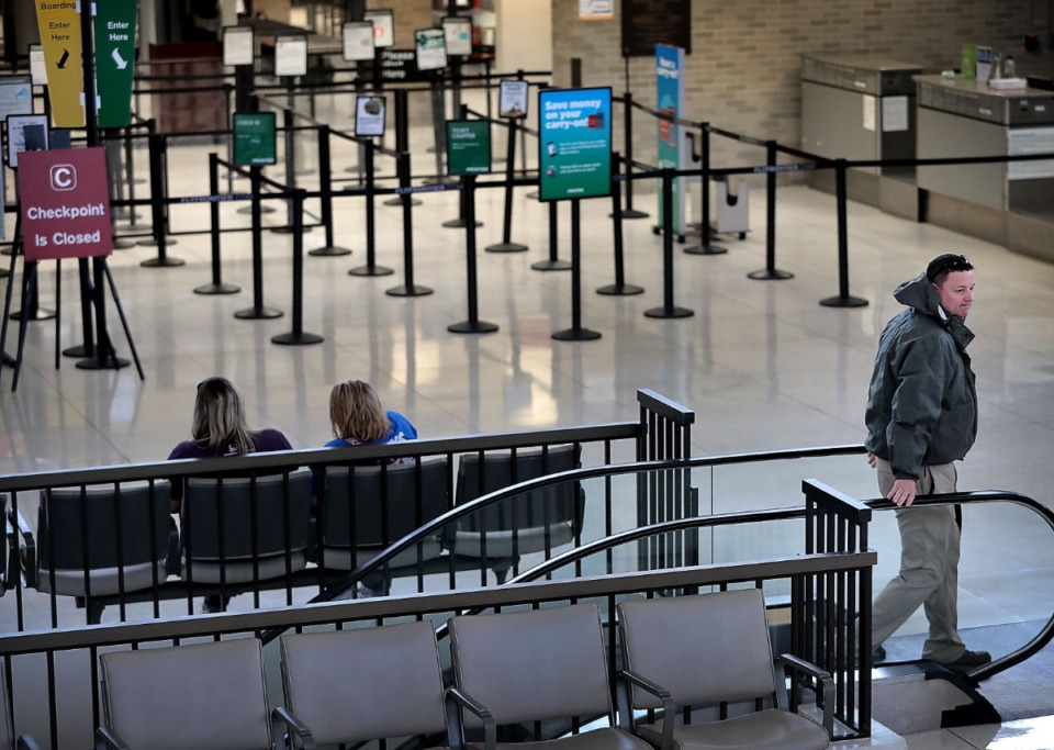 <strong>Memphis International Airport closes the C terminal checkpoint,&nbsp; because passenger numbers have fallen due to COVID-19.</strong> (Jim Weber/Daily Memphian file)