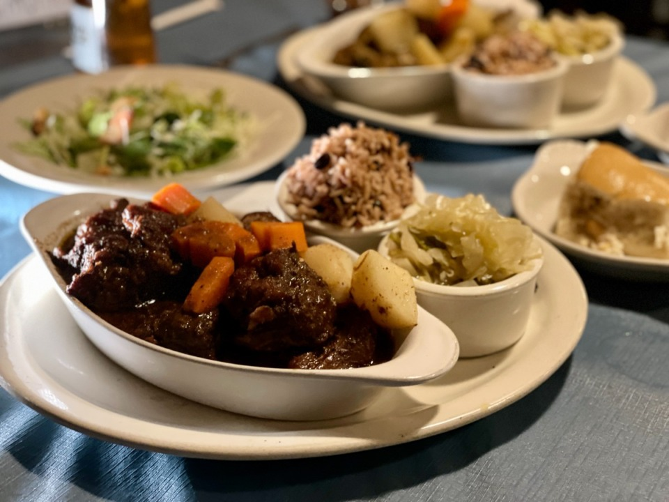 <strong>A generous serving of oxtails is on the dinner menu at Curry N Jerk.</strong> (Jennifer Biggs/Daily Memphian)