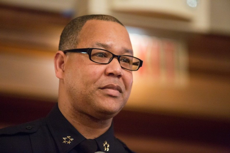 <strong>Memphis Police Director Michael Rallings (in a file photo) was appointed to the position in 2016 first on an interim basis and then as Strickland&rsquo;s permanent choice. He will retire effective April 14.</strong> (Daily Memphian)